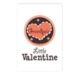 Pink Brown Grandpa's Little Valentine Postcards (P