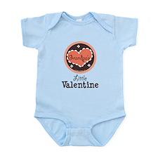 Pink Brown Grandpa's Little Valentine Onesie