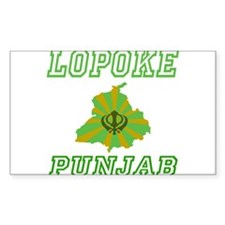 Lopoke, Punjab Rectangle Decal
