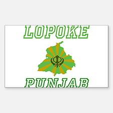 Lopoke, Punjab Rectangle Decal