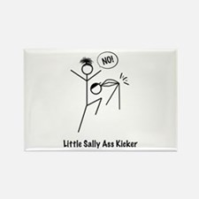 Cute Little ass kicker Rectangle Magnet