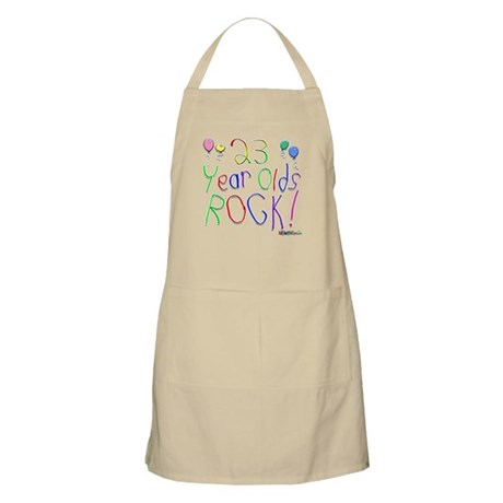 23 Year Olds Rock ! BBQ Apron