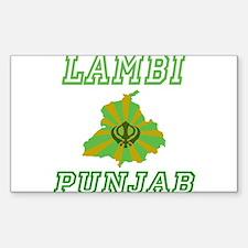Lambi,Punjab Rectangle Decal