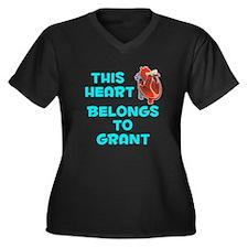 This Heart: Grant (B) Women's Plus Size V-Neck Dar