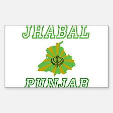 Jhabal,Punjab Rectangle Decal