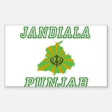 Jandiala,Punjab Rectangle Decal