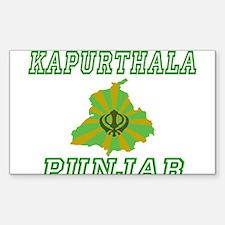 Kapurthala,Punjab Rectangle Decal