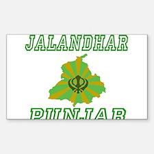 Jalandhar,Punjab Rectangle Decal