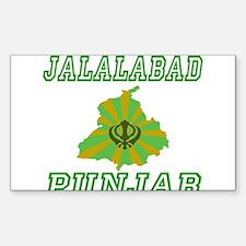 Jalalabad, Punjab Rectangle Decal