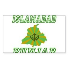 Islamabad, Punjab Rectangle Decal