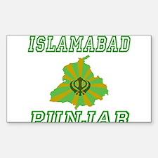 Islamabad, Punjab Rectangle Decal
