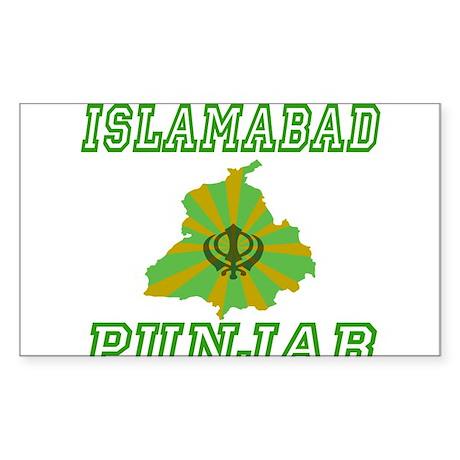 Islamabad, Punjab Rectangle Sticker