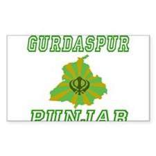 Gurdaspur, Punjab Rectangle Decal