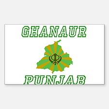 Ghanaur, Punjab Rectangle Decal