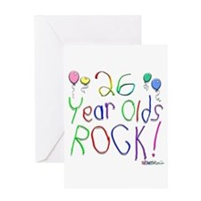 26 Year Olds Rock ! Greeting Card