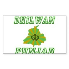 Dhilwan, Punjab Rectangle Decal