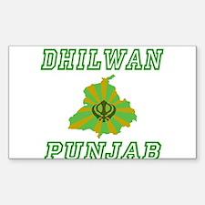 Dhilwan, Punjab Rectangle Decal