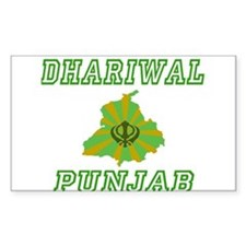 Dhariwal, Punjab Rectangle Decal