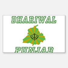 Dhariwal, Punjab Rectangle Decal