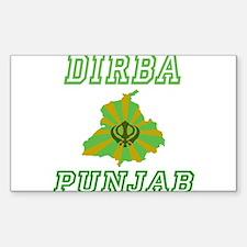 Dirba, Punjab Rectangle Decal