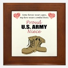 Proud US Army Niece Framed Tile