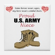Proud US Army Niece Tile Coaster