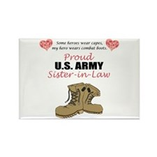 Proud US Army Sister-in-Law Rectangle Magnet