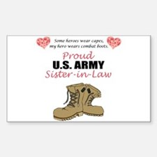 Proud US Army Sister-in-Law Rectangle Decal