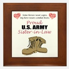 Proud US Army Sister-in-Law Framed Tile