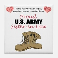 Proud US Army Sister-in-Law Tile Coaster