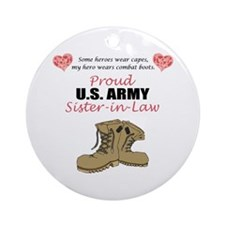 Proud US Army Sister-in-Law Ornament (Round)