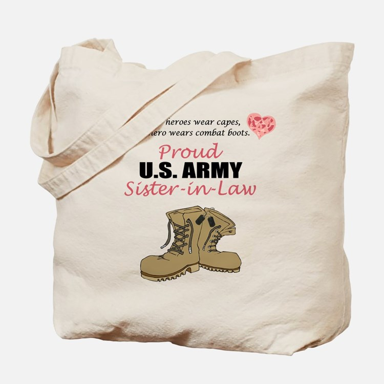 Proud US Army Sister-in-Law Tote Bag
