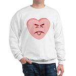 Pink Yuck Face Heart Sweatshirt