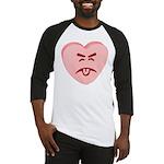Pink Yuck Face Heart Baseball Jersey