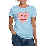 Pink Yuck Face Heart Women's Light T-Shirt