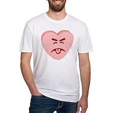Pink Yuck Face Heart Shirt