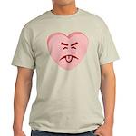 Pink Yuck Face Heart Light T-Shirt