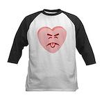 Pink Yuck Face Heart Kids Baseball Jersey