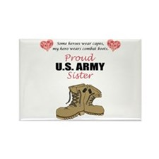 Proud US Army Sister Rectangle Magnet