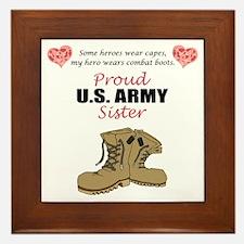 Proud US Army Sister Framed Tile