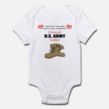Proud US Army Sister Infant Bodysuit