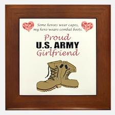 Proud US Army Girlfriend Framed Tile