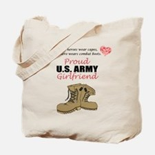 Proud US Army Girlfriend Tote Bag
