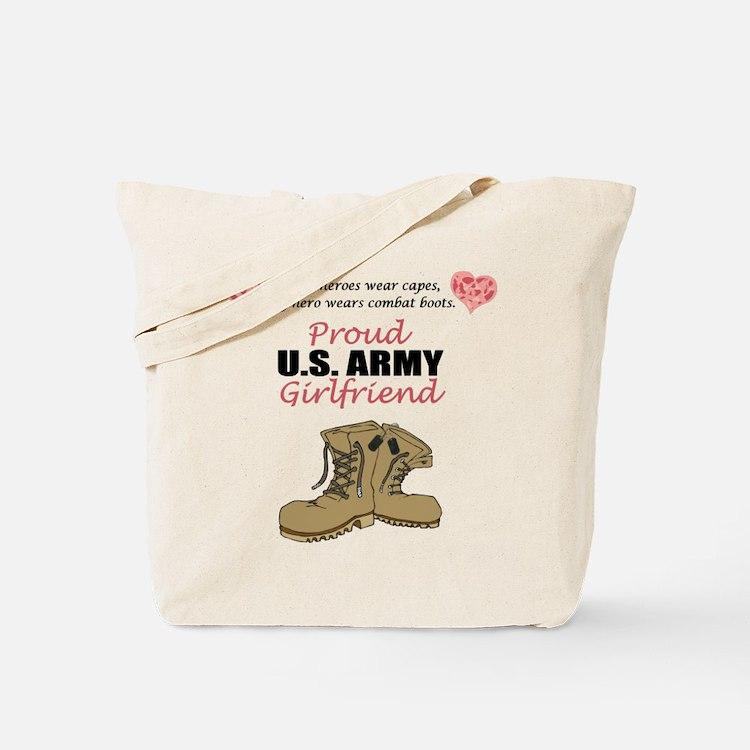 Proud US Army Girlfriend Tote Bag