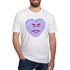 Blue Yuck Face Heart Shirt