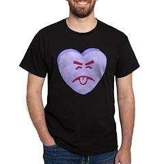 Blue Yuck Face Heart T-Shirt