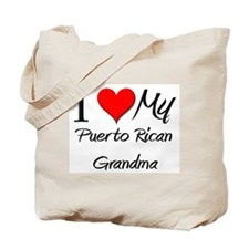 I Heart My Puerto Rican Grandma Tote Bag