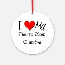 I Heart My Puerto Rican Grandma Ornament (Round)
