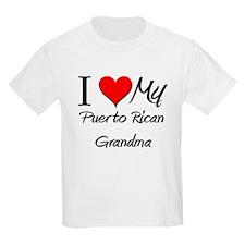 I Heart My Puerto Rican Grandma T-Shirt