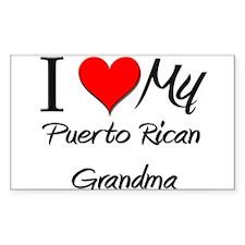 I Heart My Puerto Rican Grandma Sticker (Rectangul